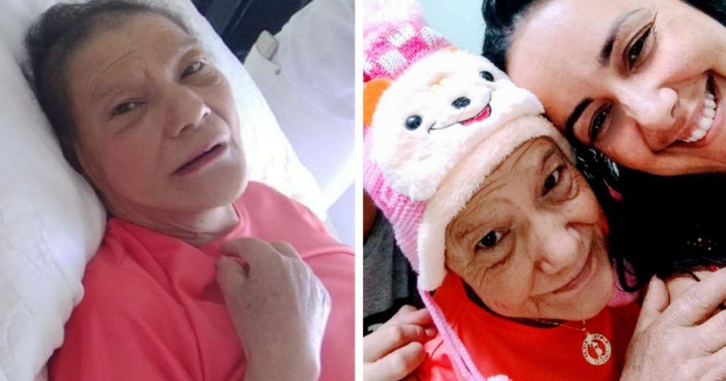 Anciana fue adoptada por enfermera luego de que su familia la abandonara por tener cáncer