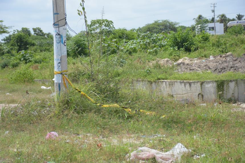 Un hombre que estaba trotando en el sector encontró el nefasto y brutal crimen en un potrero de Miramar, el feto aún estaba en la placenta y estaba en gestación.