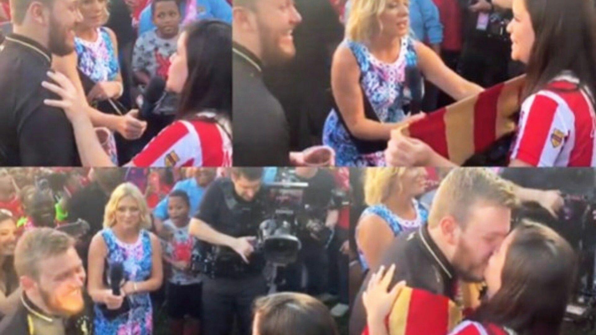 Una joven y bella mujer barranquillera y residente desde hace muchos años en la ciudad de Miami, decidió romper todos los estereotipos y se lanzó 'al agua' en medio de una gran multitud para pedirle a su novio que se casara con ella